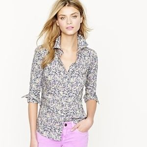 J Crew Liberty Perfect shirt in floral Wiltshire